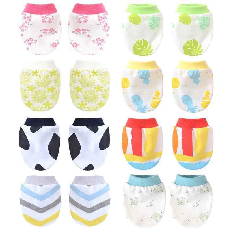 יילוד רחצה מתנות ילדי בנות בנים נגד שריטות הגנת כפפת רך קיץ דק הדפסת תינוק כפפות חדש