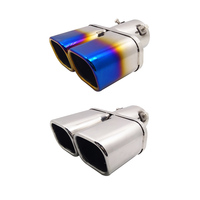 Double Wall Exhaust Pipe Car Muffler For Nissan Crosscity Renault koleos Stainless Steel Pipe 19cm Long Auto Exhaust Assembly
