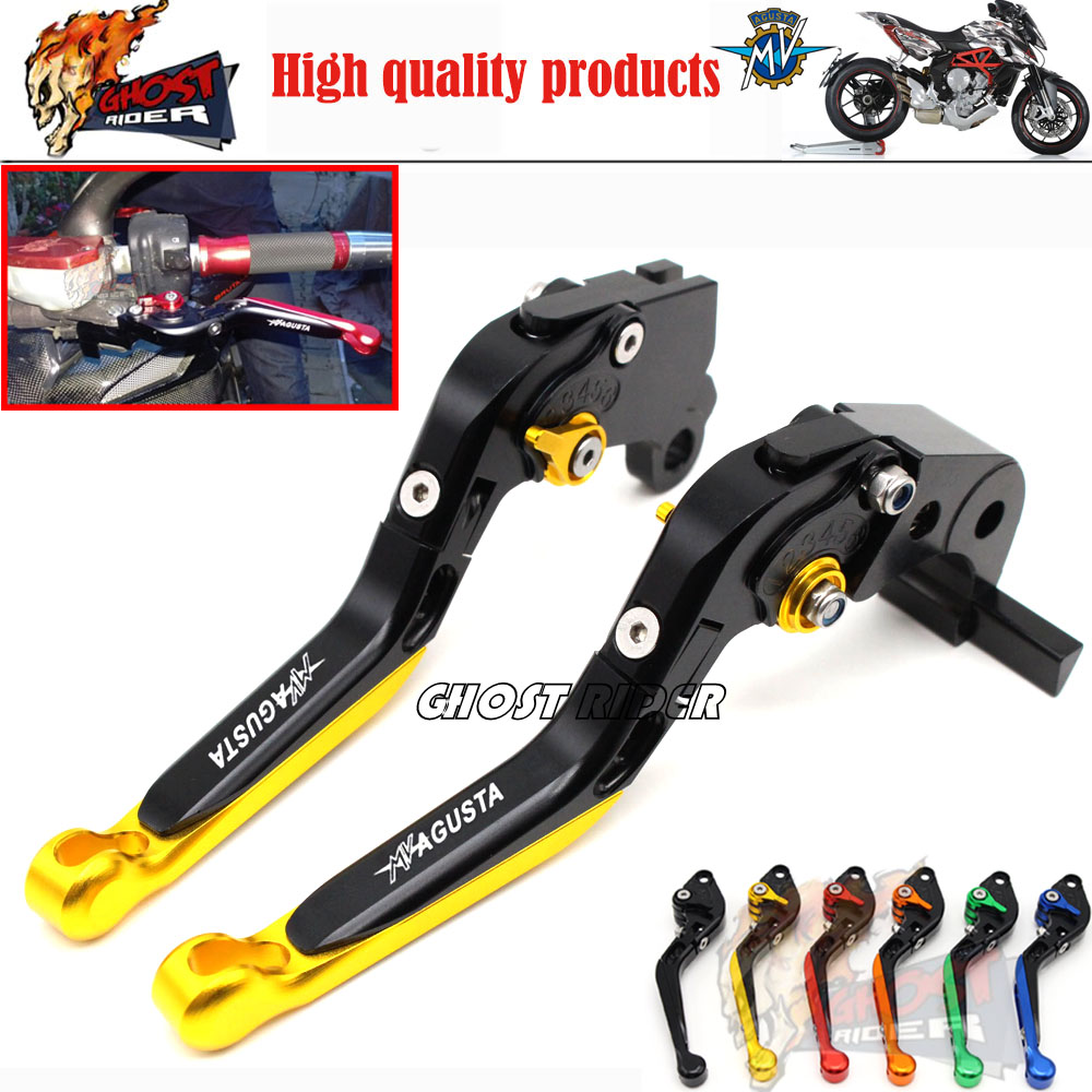 ФОТО Motorcycle Accessories Adjustable Folding Extendable Brake Clutch Levers fits For MV Agusta Brutale 675 2012-2014 800 2013-2015