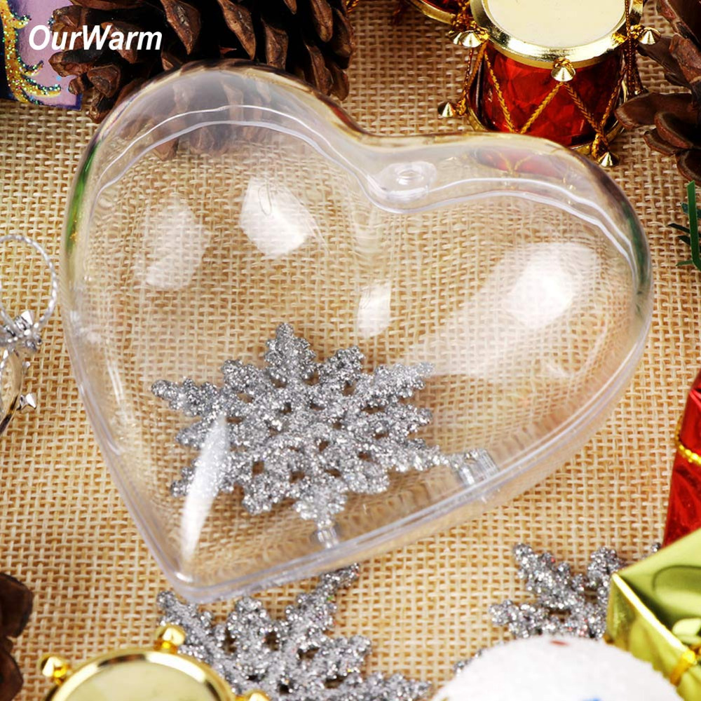 10pcs 100mm Heart Shape Clear Plastic Box Acrylic Transparent Bag For Wedding Gift Box Party