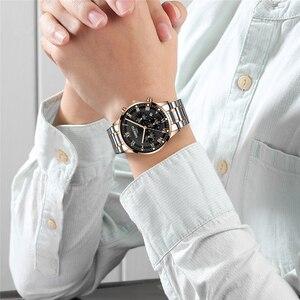 Image 4 - Relogio Masculino NIBOSI Männer Uhren Mode Sport Quarz Uhr Männer Uhr Top Marke Luxus Voller Stahl Business Wasserdichte Uhr
