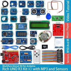 Image 1 - Rich UNO R3 Atmega328P płyta modułu rozwojowego zestaw C kompatybilny z arduino UNO R3, z czujnikiem temperatury MP3 RTC