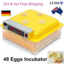 2016 новинка модель автоматический инкубатор 48 птицы яйца инкубации Equipement питомнике для курица голубь утка CE утвержден ZZ-48