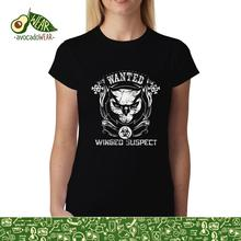 Owl Wanted Winged Suspect Womens T-shirt XS-3XLStreetwear Funny Print Clothing Hip-Tope Mans T-Shirt Tops Tees Hot Sale Men
