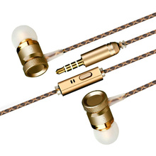 Inpher-X6 Hot Sale original stereo earphone 3.5mm Metal headset In-Ear earphone with mic For Phone MP3 MP4 earphone microphone