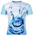 Legal Menino 2016 Crianças Novas do Verão 3D Camiseta Céu Azul Gotas de água de Impressão T-Shirt Da Menina do Menino Roupas de Marca Manga Curta Tee Tops