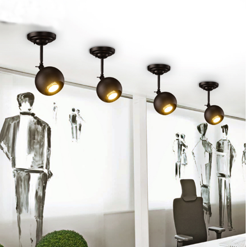 Modern clothing store bar <font><b>ceiling</b></font> lamp exhibition hall LED light mounted light Exclusive store long pole guide track spotlight