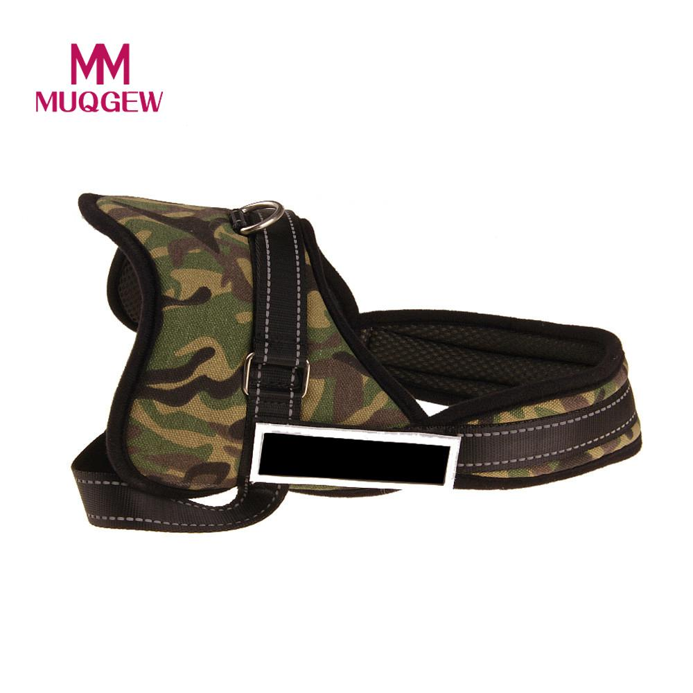 MUQGEW Nylon Camouflage Chest Strap Pet Dog Traction Explosion Proof Adjustable Dog Collars For Medium Large Dogs French Bulldog