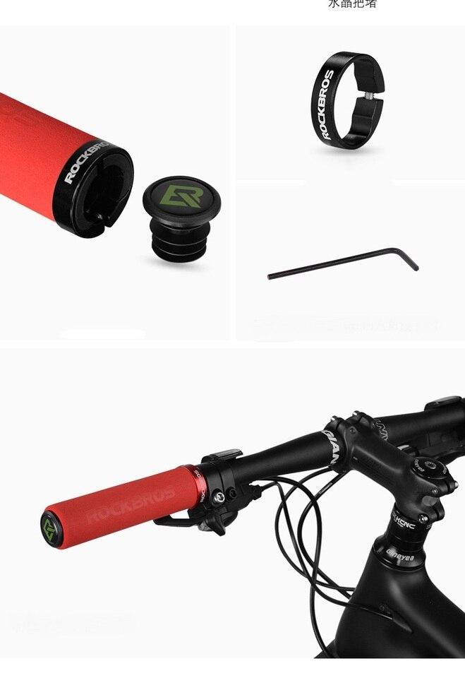 ROCKBROS Bike Bicycle Grips MTB BMX Soft Cycling Handlebar Lock On Grips YG