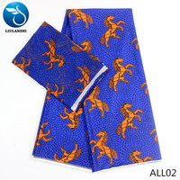 LIULANZHI African fabrics chiffon fabrics 2yards and 4yards audel fabrics for dress 2019 horse designs 6yards/lot ALL01 ALL25