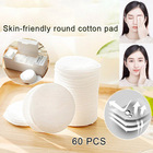 60 Pcs Smooth Round Skin-Friendly Cotton Pads Makeups Remover Pads Smooth Round Practical Soft Cotton Pads