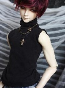 1/4 1/3 uncle SD17 BJD SD Doll accessories Bjd clothes black undershirts