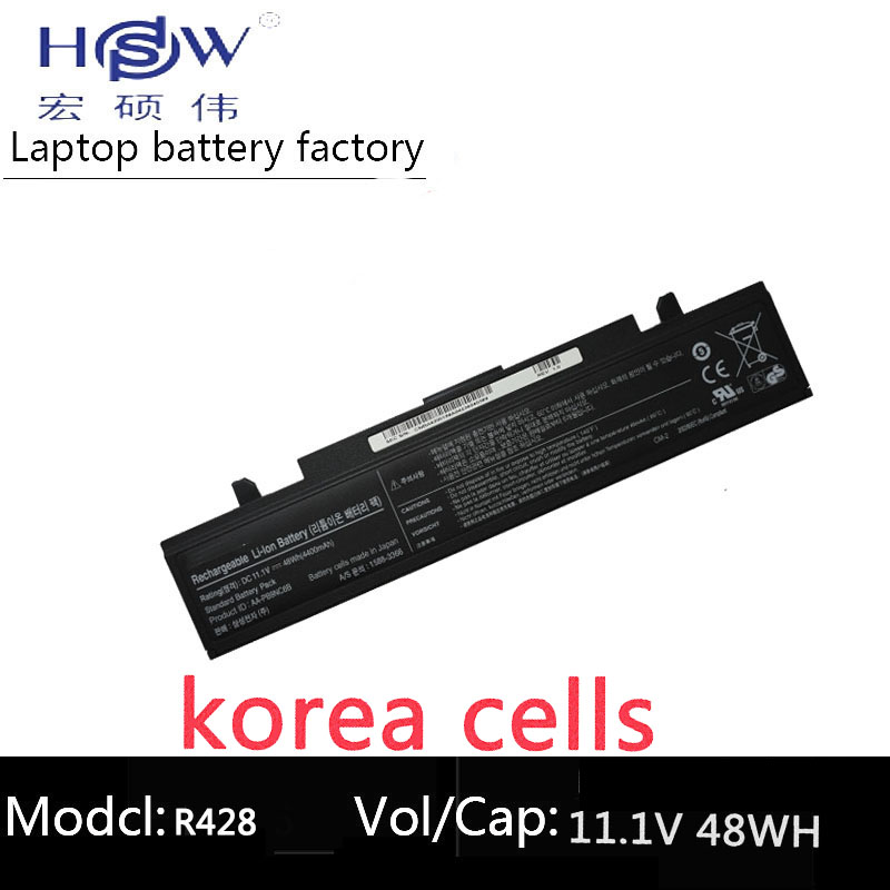 HSW laptop battery 11.1V 48WH For Samsung AA-PB9NC5B AA-PB9NC6B AA-PB9NC6W AA-PB9NS6B AA-PL9NC2B AA-PL9NC6W R728 R730