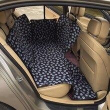 Faltbare Wasserdichte Auto Haustier Sitzbezüge Fußabdruck Muster Oxford Stoff Hund Rücksitz Auto Innen Zubehör Für Drop ship