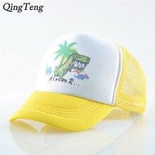 цена на Cute Dinosaur Kids Cap Summer Casual Children Baseball Caps Boys Girls Adjustable Hip Hop Sun Hats 2019 New Trucker Snapback