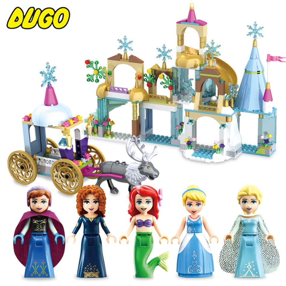 Friends Princess Figures Dress Up Building Block Toy Compatible Legos Friend City Princess Castle Molde Bricks Toys For Girl princess ponies 6 best friends for ever