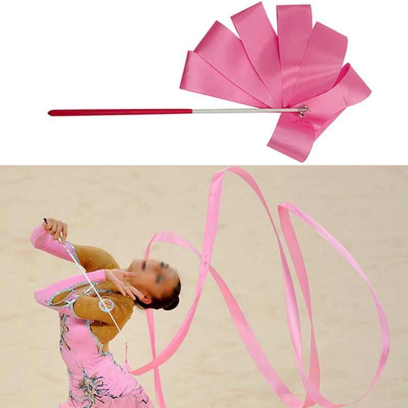 Nbg Colorful Ribbons Professional Dance Ribbon Rhythmic Art Gymnastic Ballet Streamer TwirNbgng Rod Stick Gym Training SuppNbges,C,S