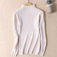 2017 Women Sweater Autumn And Winter Warm Sweater Half Collar Long Sleeve Pullover Female Basic Shirt