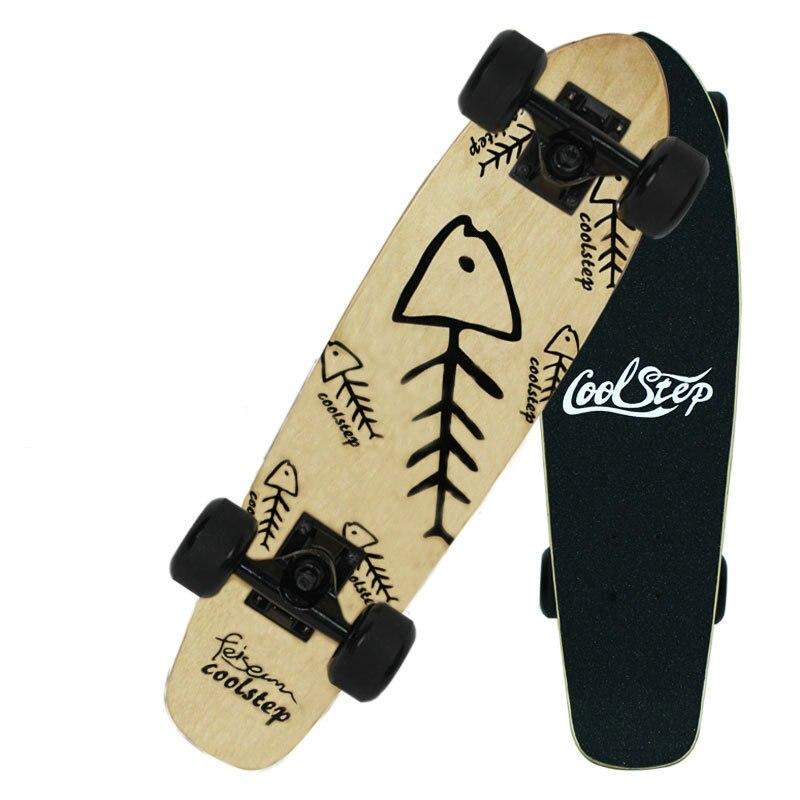 Freestyle impression rue 26 pouces planche à roulettes complète rétro Graffiti Style Skateboard Cruiser longues planches à roulettes érable