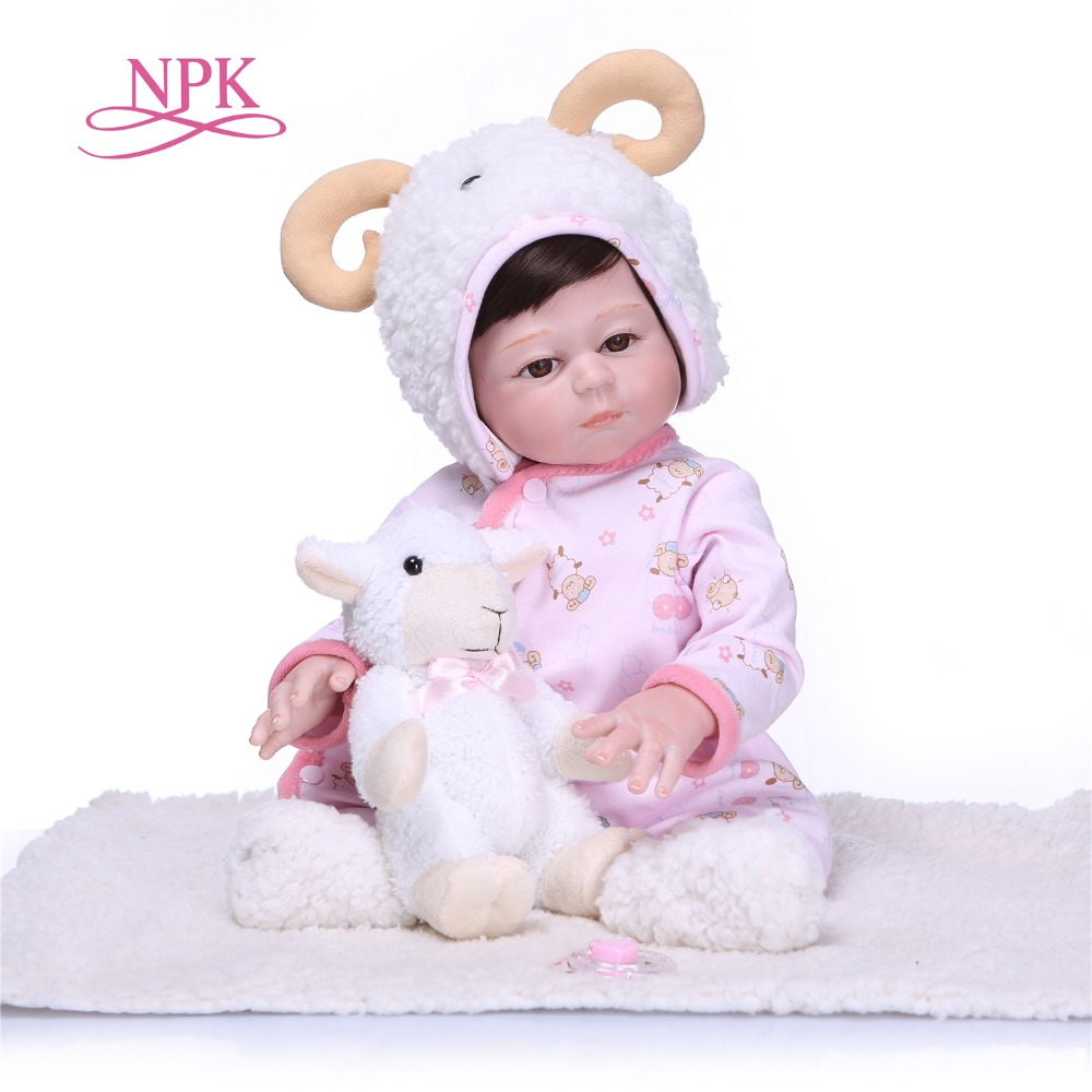 NPK New Arrival 50CM Baby Girl Doll Full Silicone Body Lifelike Bebe Reborn Bonecas Handmade Baby Toy For Kids Christmas Gifts new arrival 23 57cm baby girl doll full silicone body lifelike bebe reborn bonecas handmade baby toy for kids christmas gifts