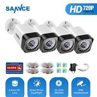 SANNCE TVI 720P 4PCS 1200TVL Bullet CCTV Camera Suite 1 0MP Waterproof IR Cut Night Vision