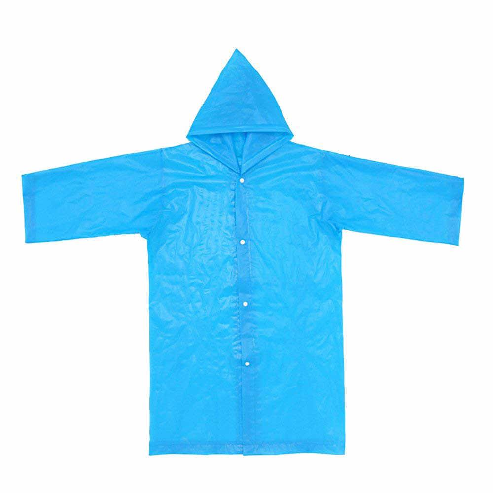 2PCS עמיד למים ילדים נייד לשימוש חוזר מעילי גשם לילדים 6-12 שנים שכמיות גשם מעיל בגדי גשם Rainsuit תלמיד
