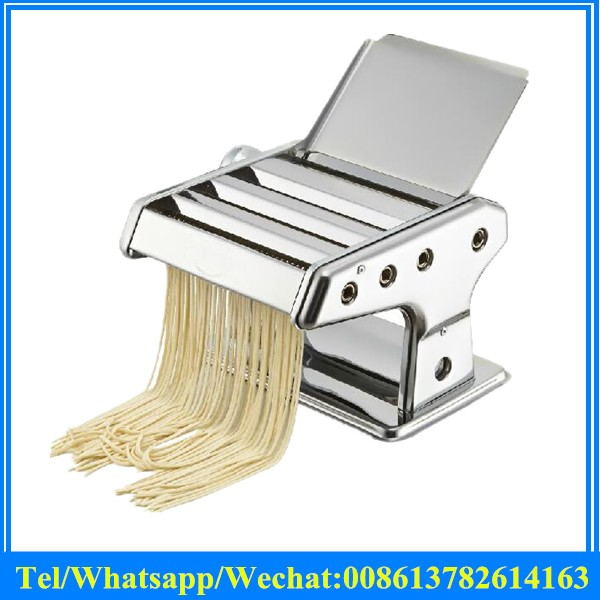 manual pasta noodle machine for dough roller manual dumpling and wonton wrapper press machine with three blades