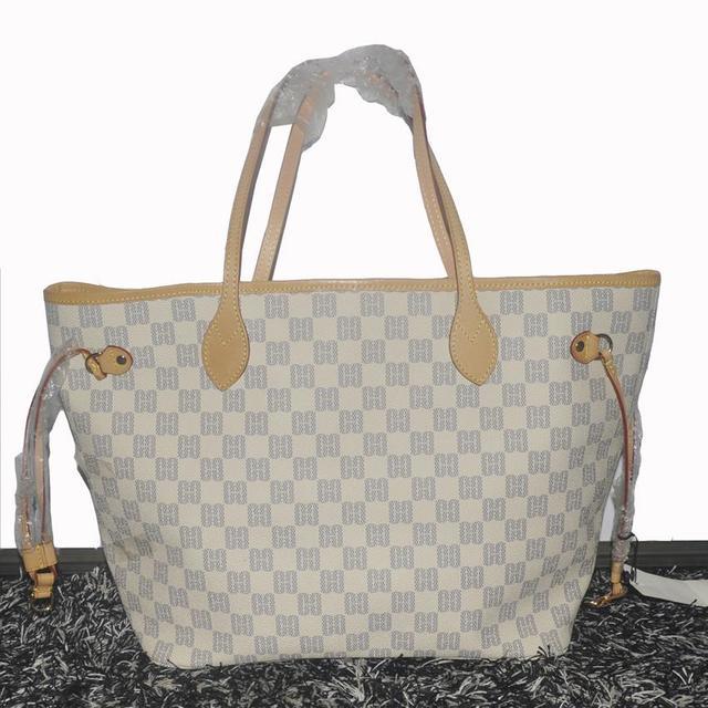 Top Quality Women Shoulder Bag Neverfull Mm N41361 Gm N41360 Damier Azur Canvas