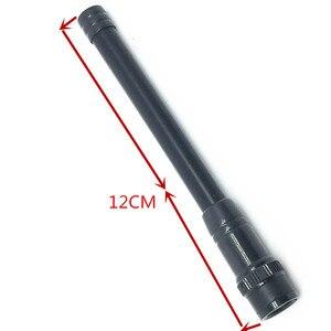 Image 1 - أسود لينة مكاسب عالية للأشعة فوق البنفسجية ثنائي القسم 144/430 MHZ هوائي ل V8 V80 V80E V82 V85 V85E f3S VX200 VX500 ecc اسلكية تخاطب