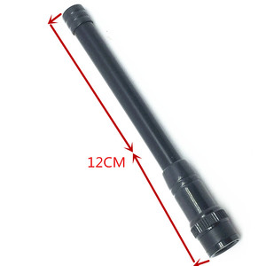 Image 1 - Antena Negra suave de alta ganancia UV de doble sección de 144/430 MHZ para V8 V80 V80E V82 V85 V85E f3S VX200 VX500 ecc walkie talkie