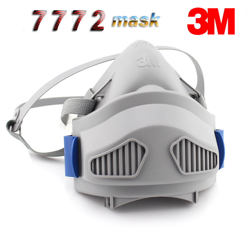 3M 7772 Respirator Mask Configuration 7744 Filter Cotton Against Industrial Dust Smoke PM2.5 Labor Protection Dust Respirator