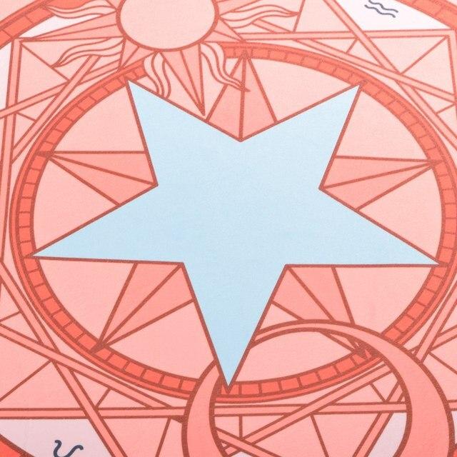 Аниме коврик Сакура собирательница карт круглый 1