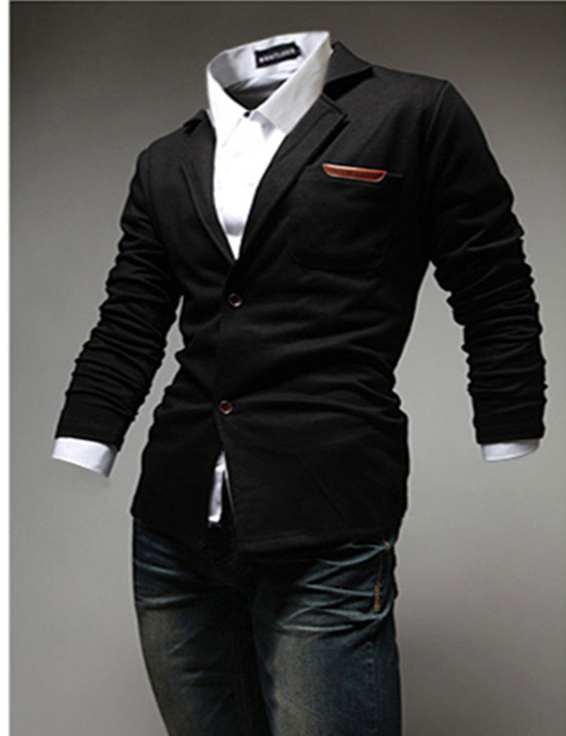 Mens jacket online - British S Style Blazer Men Casual Suit Mens Blazers Slim Fit Regular Single Breasted Men Suit Jacket