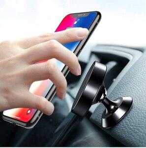 Image 2 - Soporte Universal para teléfono de coche soporte metálico de 360 grados soporte magnético para teléfono móvil soporte autocebante accesorios para coche