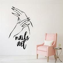 Nail Polish New Design Wall Sticker Manicure Pedicure Decoartion Vinyl Art Removable Nails Decor Beauty Salon Decals W50