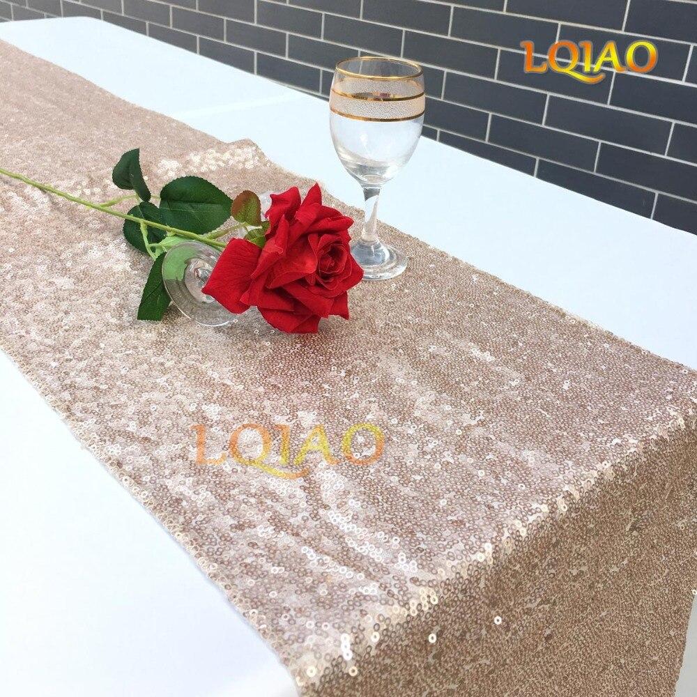 Champagne sequin table runner-001