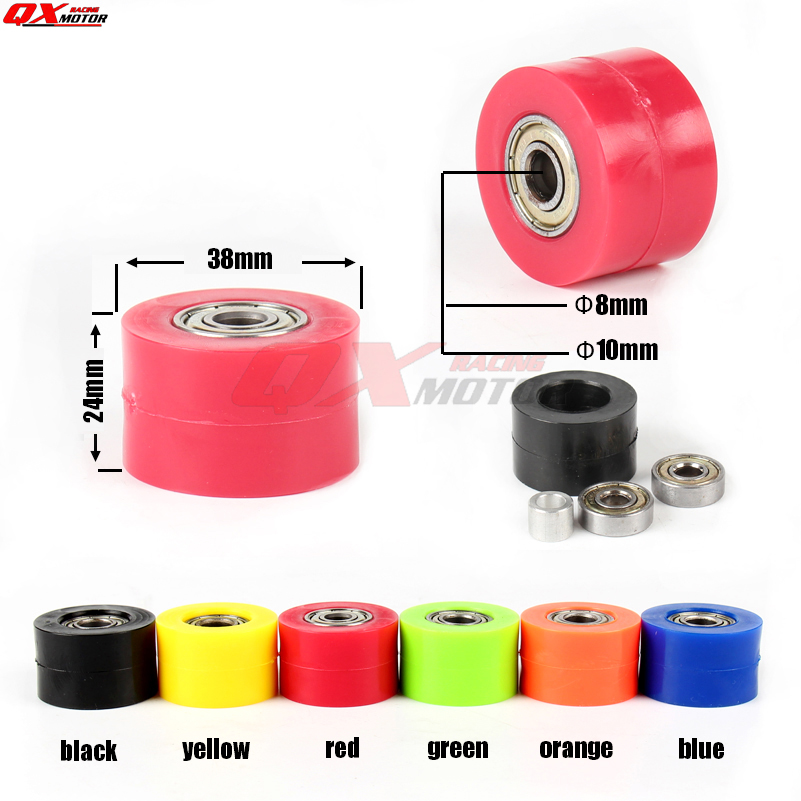 Chain Roller Tensioner Pulley Wheel Guide For CRF YZF RMZ KLX KAYO BSE Dirt Bike Motocross Enduro Motorcycle Free Shipping