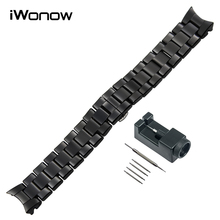 18mm 22mm Curved End Ceramic Watchband + Link Remover for AR1405 AR1442 AR1426 AR1451 AR1451 AR1468 Watch Band Wrist Strap Black