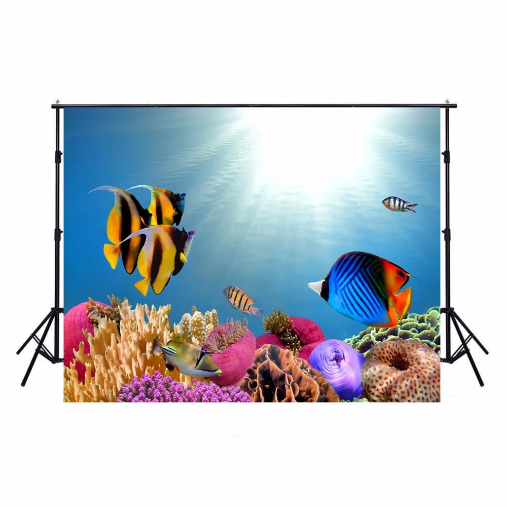 Camera & Photo Ocean Fish Photography Backdrop Kids Vinyl Backdrop For Photography Photocall Underwater Background For Photo Studio Cortina Background