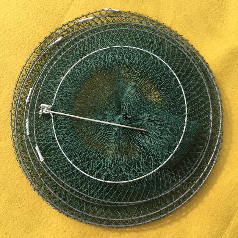 Shrimp Cage Fishing Net Folding Fishnet Fish Line Dip Net Cage Portable Folding Fish Care Green