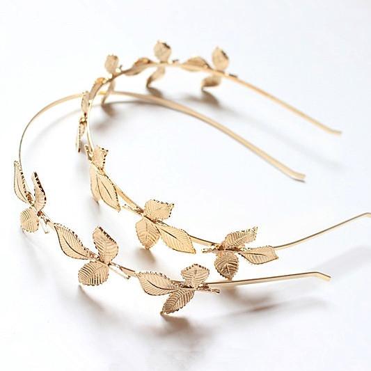 nuevo estilo de corea mujeres accesorios para el cabello bosque de la joyera del oro hojas