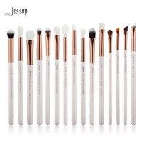 Jessup Brand White Rose Gold Professional Makeup Brushes Set Make Up Brush Tools Kit Eye Liner