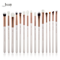 Jessup Brand White Rose Gold Professional Makeup Brushes Set Make Up Brush Tools Kit Eye Liner