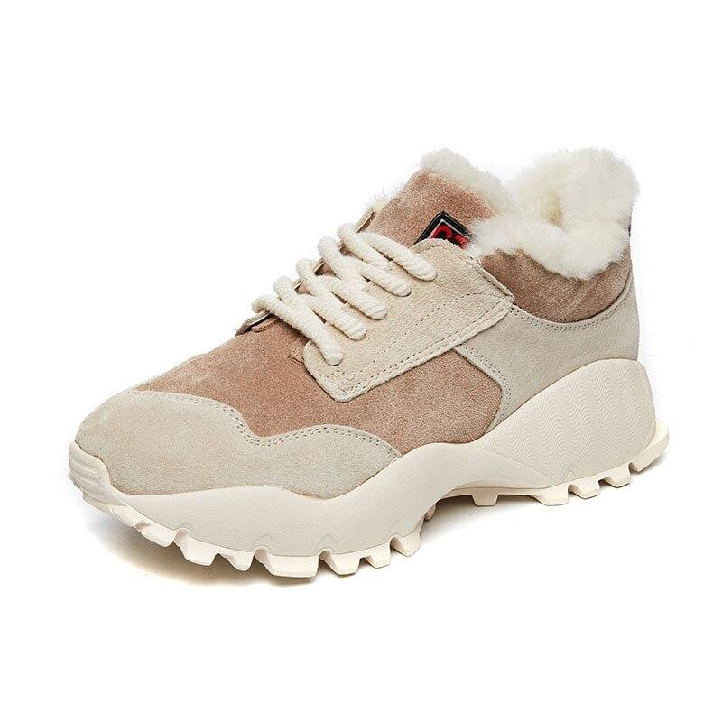 3 Plus De 2 Velours Femmes D'hiver Au En Coton Garder Pour Chaud 1 Chaussures Cuir XOq4ngp