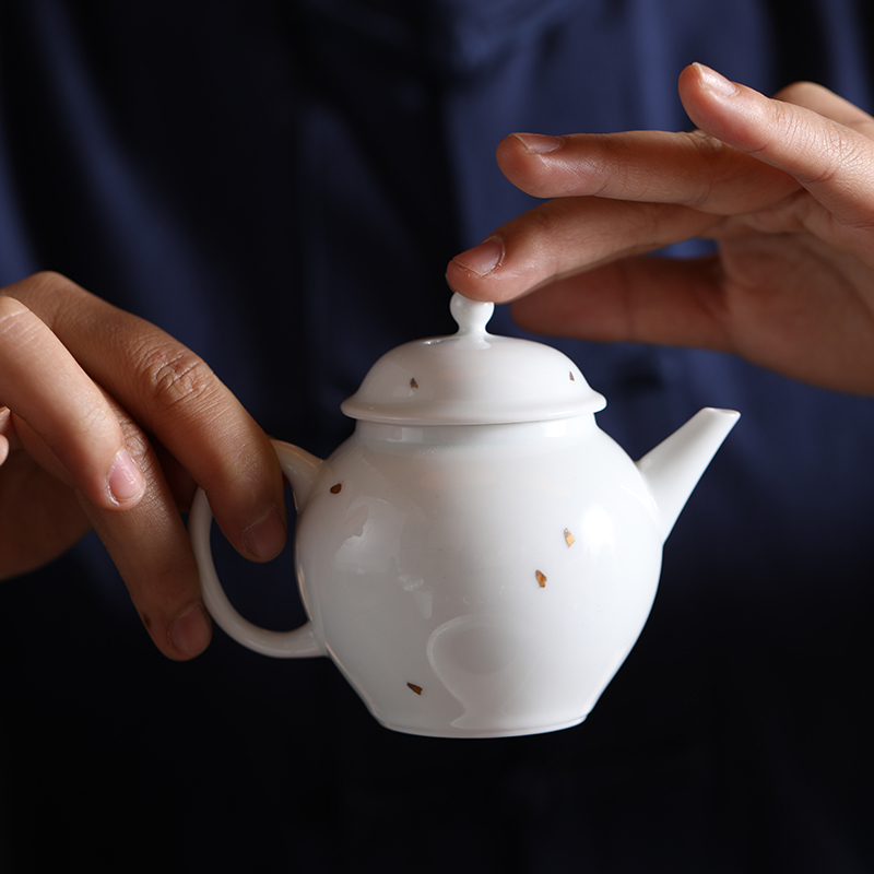 China ceramic glaze sweet handmade teapot tea pot small simple white porcelain Kung Fu tea set kettle coffee and tea chinaware