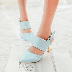 Image 2 - 2017 אופנה חדשה Sapato Feminino נשים סנדלי גלדיאטור גודל גדול 34 47 נשות סנדלי העקב גבוה נעלי גברת נשים משאבות 3 31