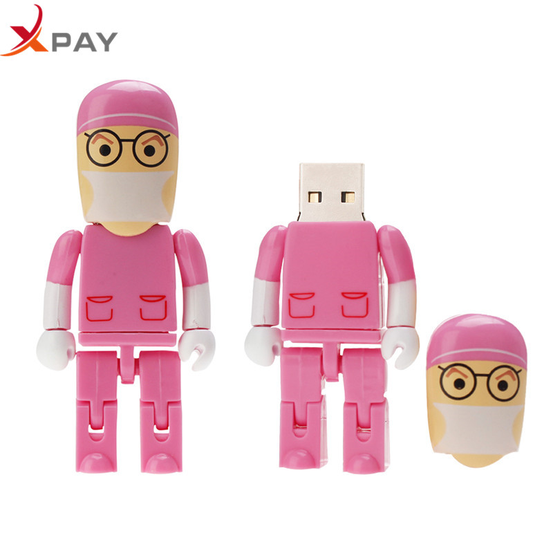 Image 2 - Crazy hot USB Flash Drive 32GB 128GB 16GB PenDrive cartoon Doctor 2.0 Nurse Flash Memory 4GB 64GB 8GB Pen Drive for gift u disk-in USB Flash Drives from Computer & Office