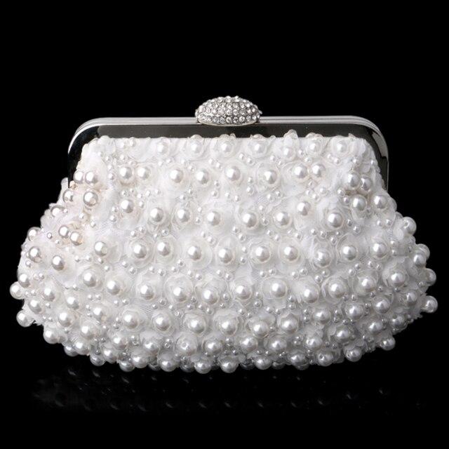 Torebki damskie sprzęgła zroszony torebki wieczorowe perłowe