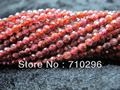 100% Natural Garnet 3mm faceted Gem stone Seed beads15.5inch string 5strings/lot