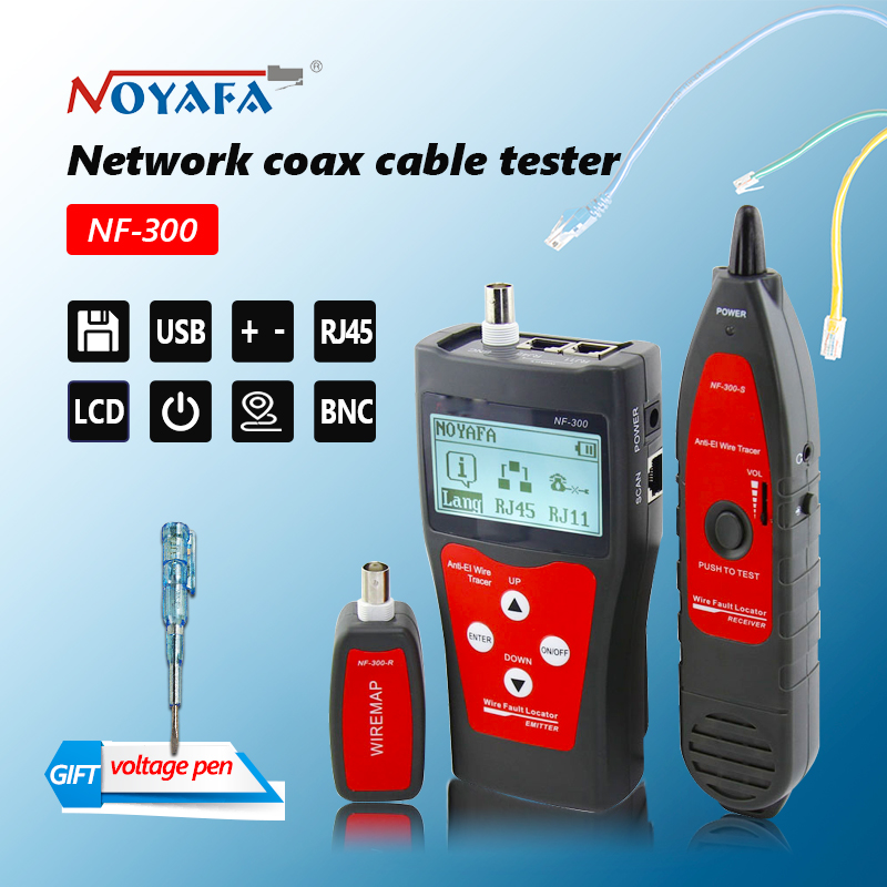 Original Lan tester RJ45 LCD cable tester Network monitoring wire tracker without noise interference NOFAYA NF-300